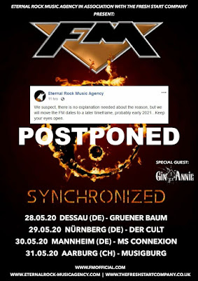 FM - Gemany, Switzerland May 2020 shows postponed