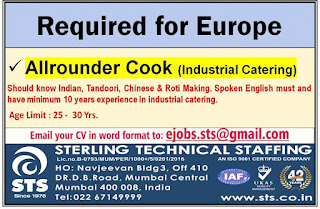 All Rounder Cook for Europe
