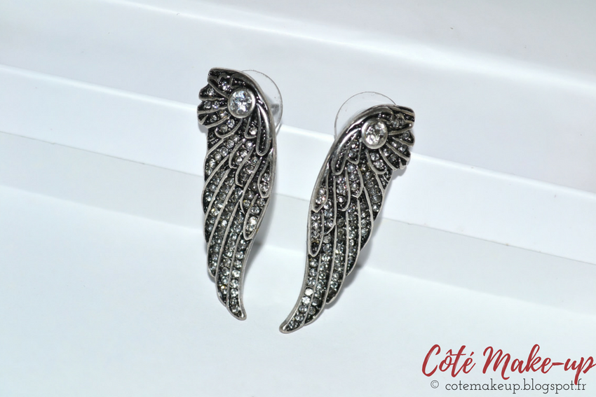 Boucles d'Oreilles Ailes Happiness Boutique cotemakeup.blogspot.fr
