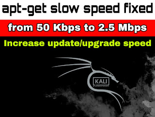 fix slow apt-get update or upgrade on Kali Linux
