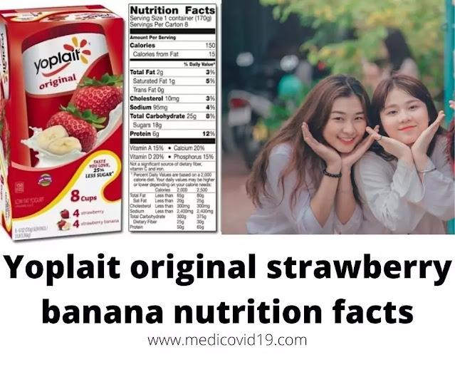 Yoplait original strawberry banana nutrition facts