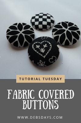 Homemade Fabric Covered Buttons Craft Project