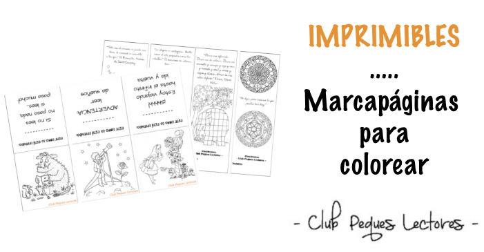Imprimible Marcapáginas Para Colorear Tradicional Y Con