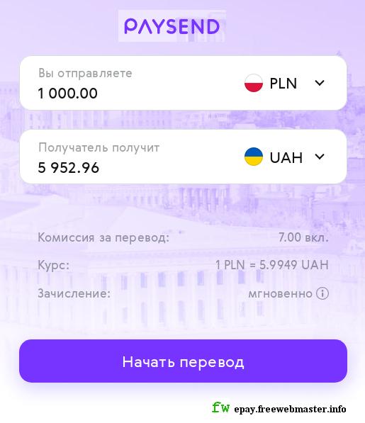 Курс перевода денег в Paysend