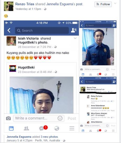 'iPhone Girl' Is Trending Again After Posting Photo of Handsome Policeman, Policeman Makes a Savage Reply