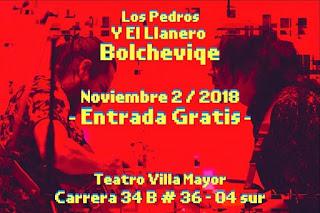 Concierto Los Pedros y el Llanero Bolchevique en Bogotá