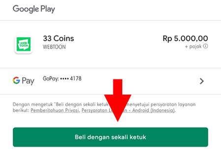 Konfirmasi Beli Koin Dengan GoPay