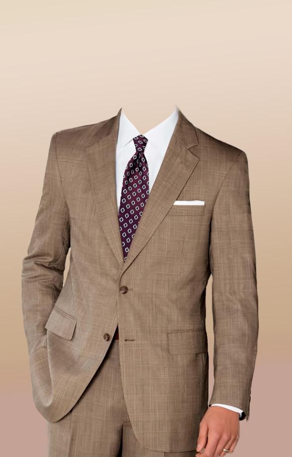 Download PSD men's suit costume in brown