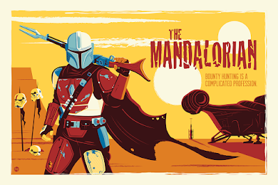 "The Mandalorian ""Chapter One"" Star Wars Screen Print by Dave Perillo x Bottleneck Gallery"