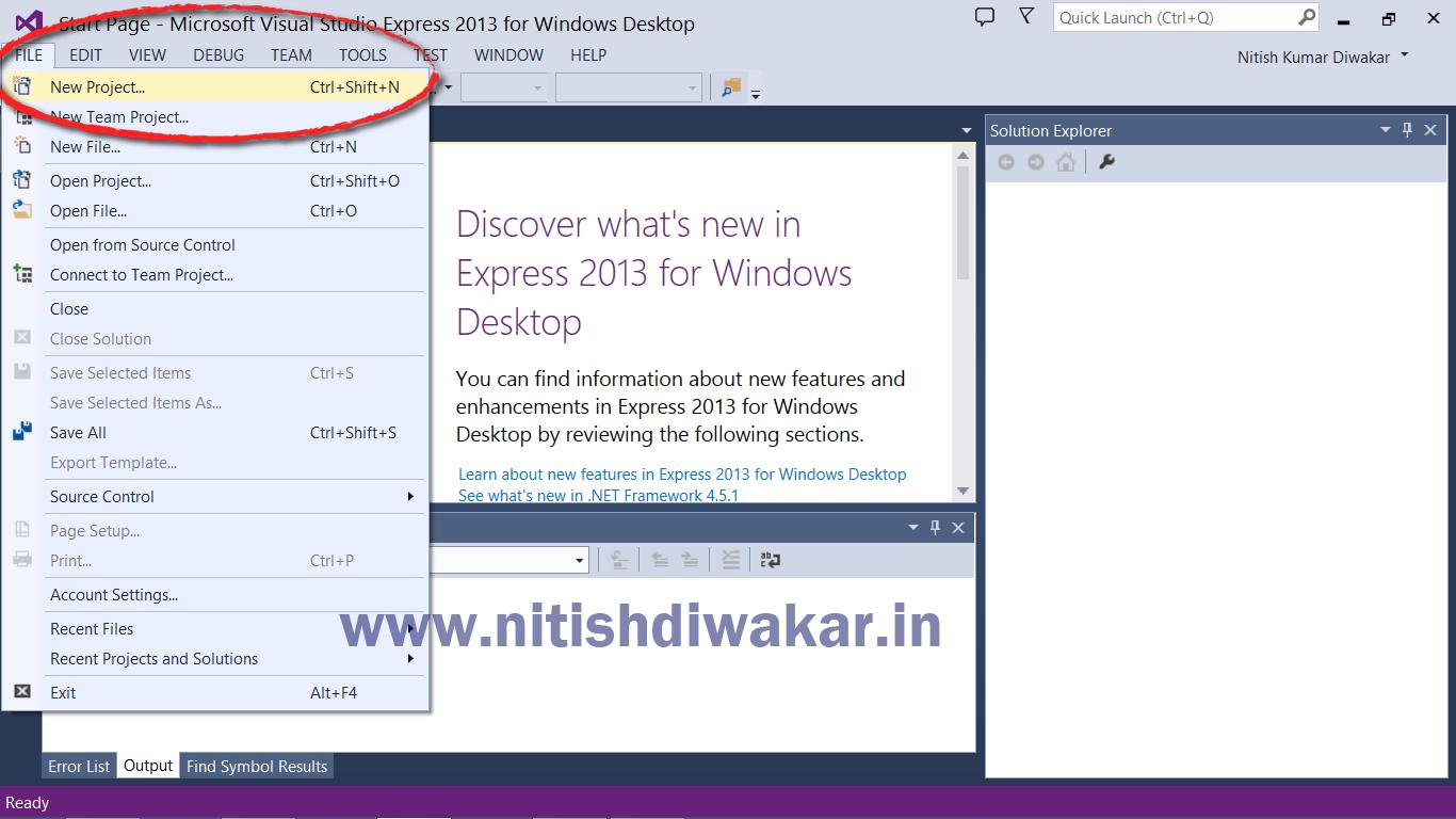 How to compile C++ program in Microsoft Visual Studio