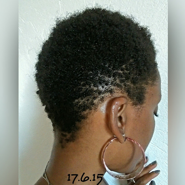 The day I had my relaxed hair cut off, 1 year ago