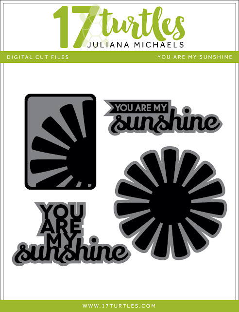 You Are My Sunshine Free Digital Cut File by Juliana Michaels 17turtles.com