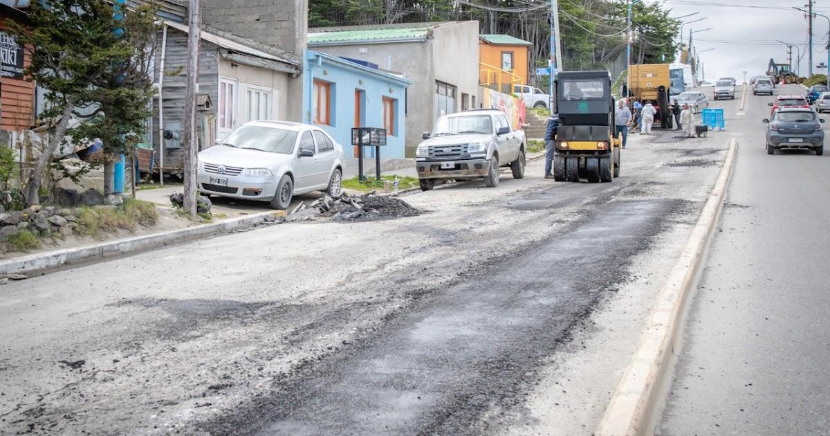 Ushuaia avanza con el Bacheo de la Avenida Magallanes - Portal La TDF