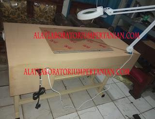 meja cek kemurnian benih model TJD murah