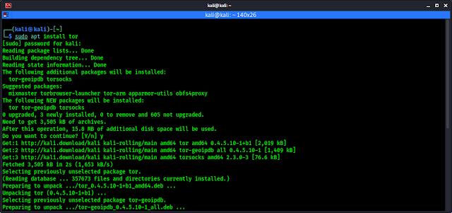 Instalar Tor en Kali Linux
