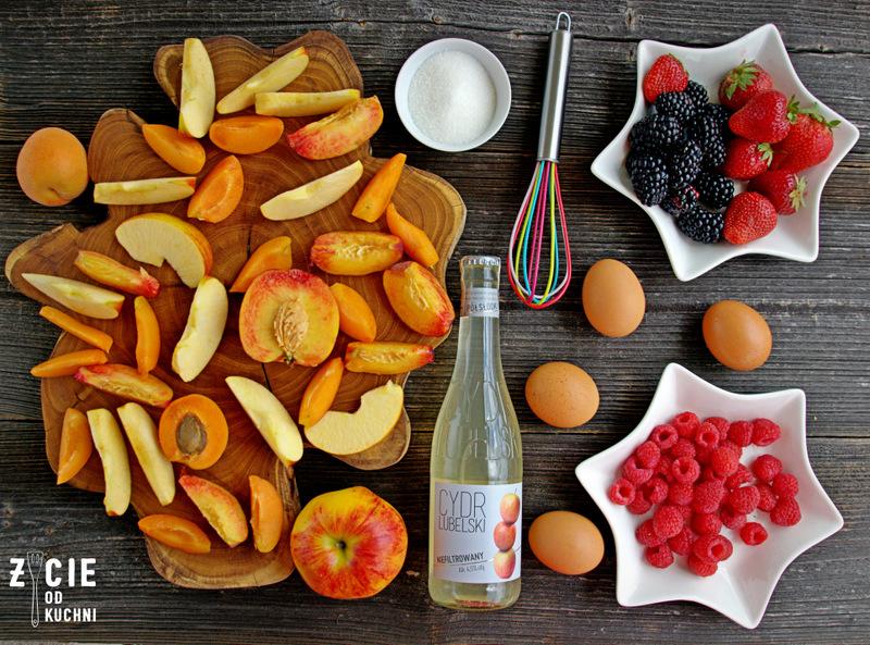 owoce zapiekane z koglem moglem, deser owocowy, owoce zapiekane, cydr lubelski, niefiltrujemy, deser z cydrem, przepisy z cydrem, blog, życie od kuchni