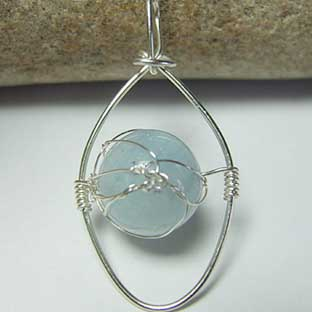 Huge aquamarine handmade jewellery uk