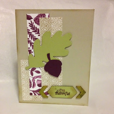 Stampin Up Card Color Me Autumn Gratitude for Days
