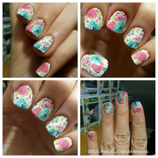 Born Pretty Store nail art product review : Pretty Flowers Full nail water decals!