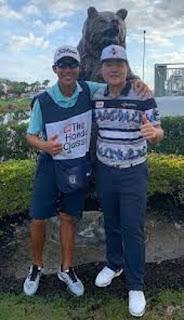 Sungjae Im With His Caddie Albin Choi