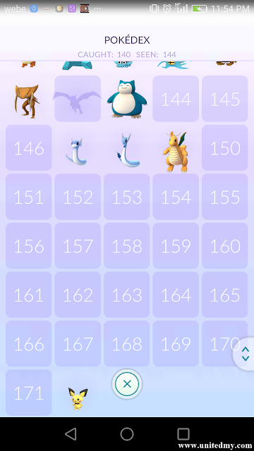 Pokedex Pokemon Go enlarged December 2016