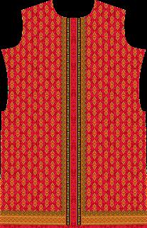 Traditional Print Red Colour Suit Kurtis Design - Front 2744