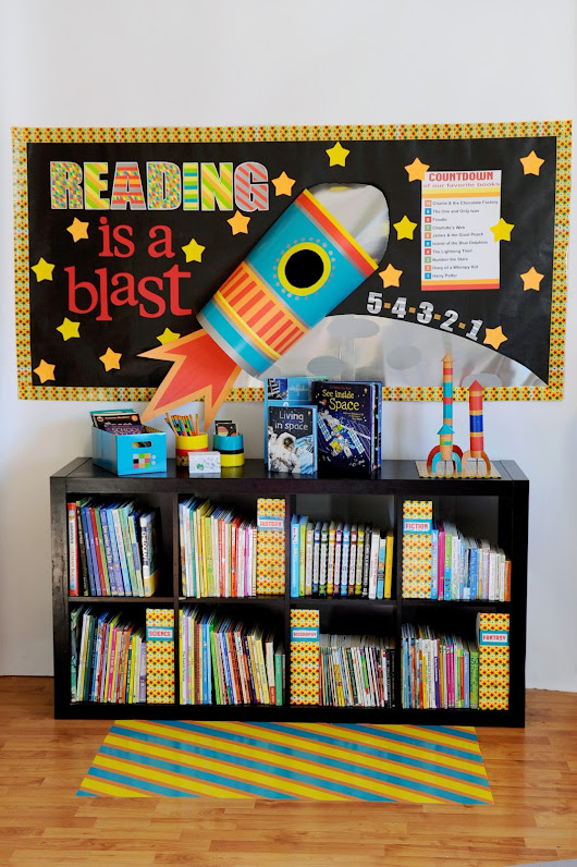 Reading Is A Blast Bulletin Board & Free Printable