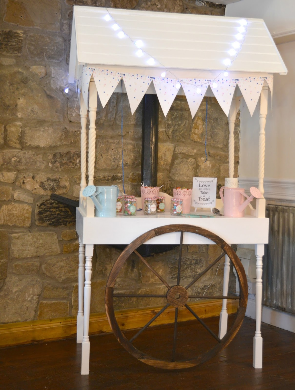 Weddings at Webster's Ropery, Sunderland: A North East Wedding Venue Sweet Cart