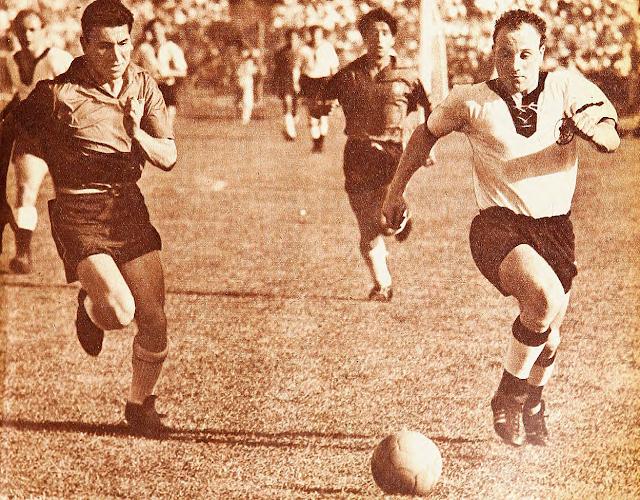 Chile y Alemania Federal en partido amistoso, 26 de marzo de 1961