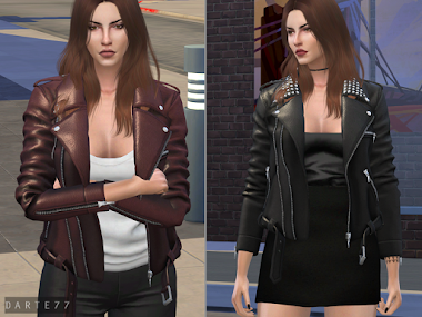 Leather Jacket (With and Without Spikes)