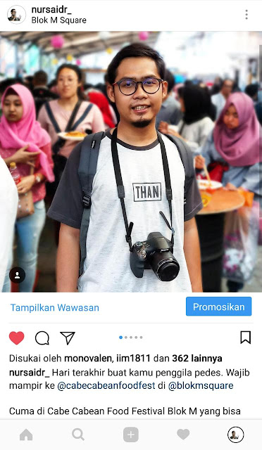 instagram competition cabe cabean food festival 2018