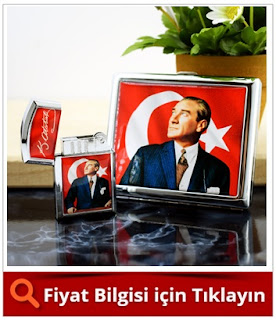 Atatürk Resimli Çakmak ve Sigara Tabakası