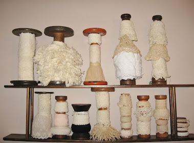 ORGANIZING: Old Lace Stored on Antique Textile Spools
