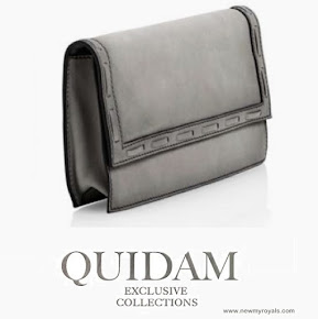 Crown Princess Mary carried Quidam Alligator grey Clutch