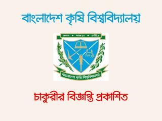 Bangladesh Agriculture University (BAU) Job Circular 2019