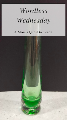A Mom's Quest to Teach: Wordless Wednesday: Vases - Sharing some collectable vases; long green vase