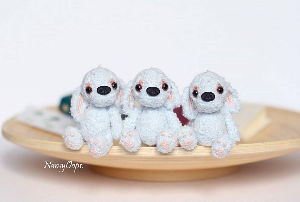 Вязаные щенки амигуруми крючком
