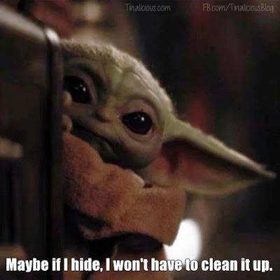 Baby Yoda Hides - Tinalicious