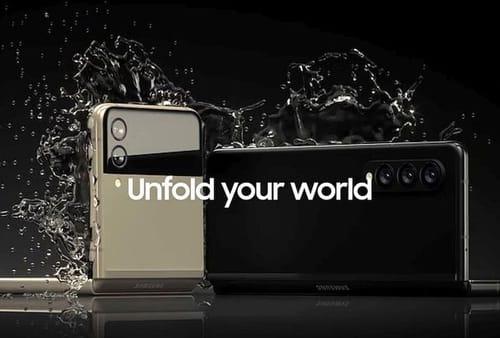 Samsung foldable phone waterproof