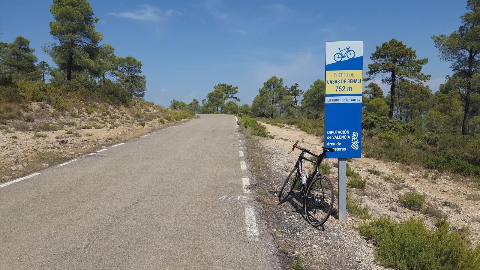 Bicycle on Mediterranean mountain summit