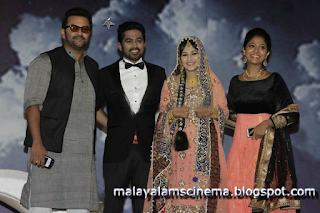 Indrajith and Poornima at Asif Ali's wedding reception