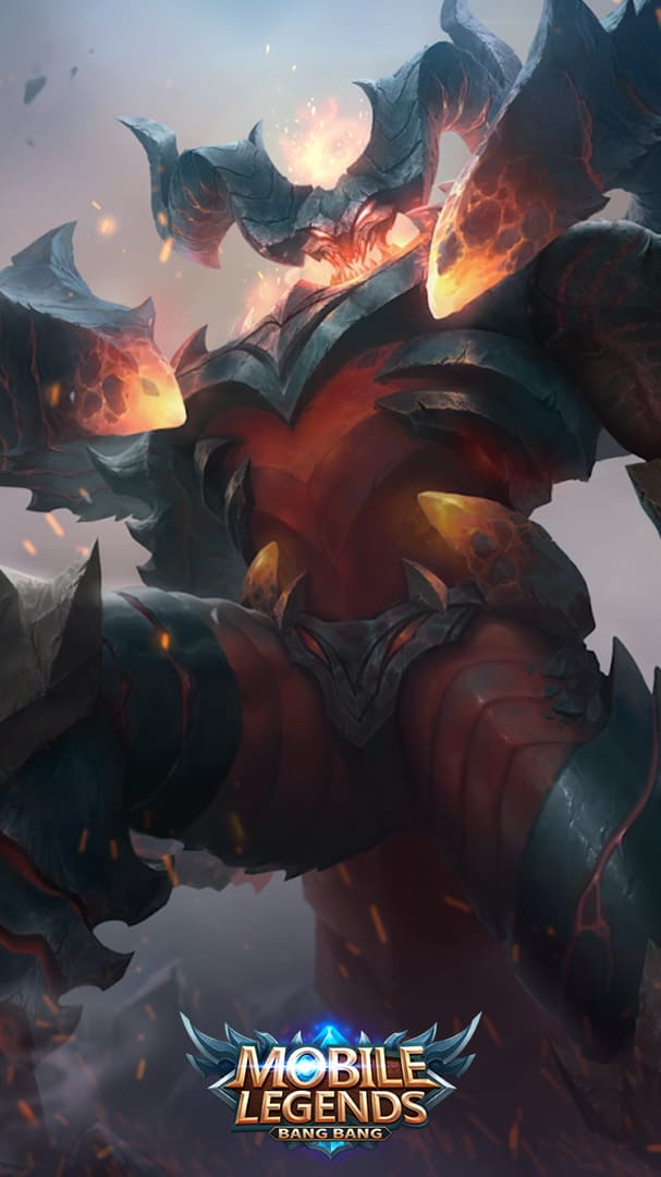 Wallpaper Thamuz Lord Lava Skin Mobile Legends Full HD for Android and iOS