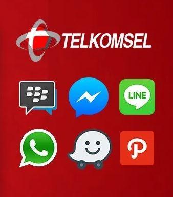 Kegunaan Kuota Chat Dan Sosial Media Telkomsel Paket Pedia