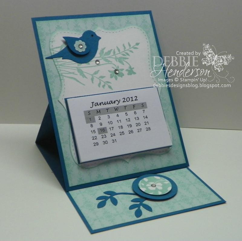 Handmade Calendar Design : Debbie s designs free friday january big shot club