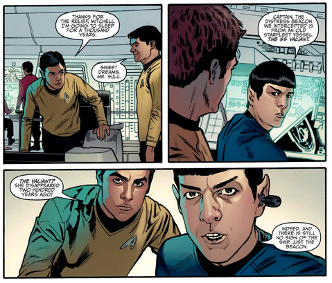 Star Trek #1By Mike Johnson, Stephen Molnar, John Rauch, Neil Uyetake, with Robert Orci Based on the story written by Samuel A. Peeples