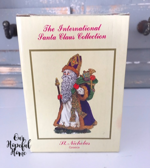 St. Nicholas Greece International Santa Claus Collection box