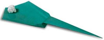 cara membuat origami ketapel dari kertas