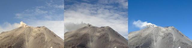 Emission de cendres sur le volcan Nevados de Chillan, 27 mars 2016