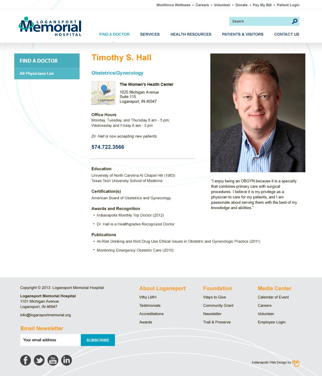 Website Redesign & Strategy: Logansport Memorial Hospital ...