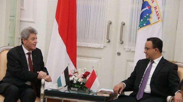 Dubes Palestina Berkunjung ke Kantor Anies: Dulu Saudagar Kami Sering Bantu Indonesia